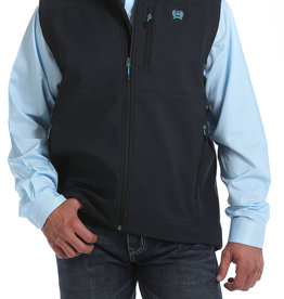Cinch Mens Cinch Bonded Vest Charcoal n Electric Blue Logo