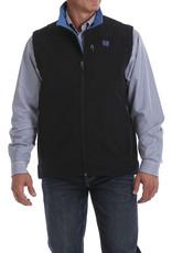 Cinch Mens Cinch Concealed Carry Black Bonded Vest Royal Blue Logo