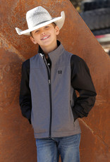 Cinch Boys Cinch Heather Grey Bonded Vest