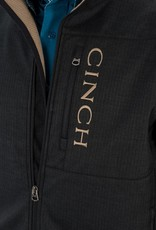 Cinch Mens Cinch Concealed Carry Bonded Black Texture Tan Logo Jacket - XS Only