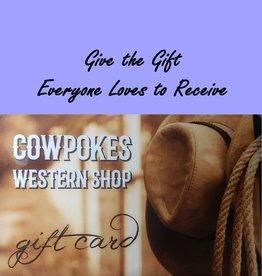Gift Card Cowpokes Western Shop Gift Card