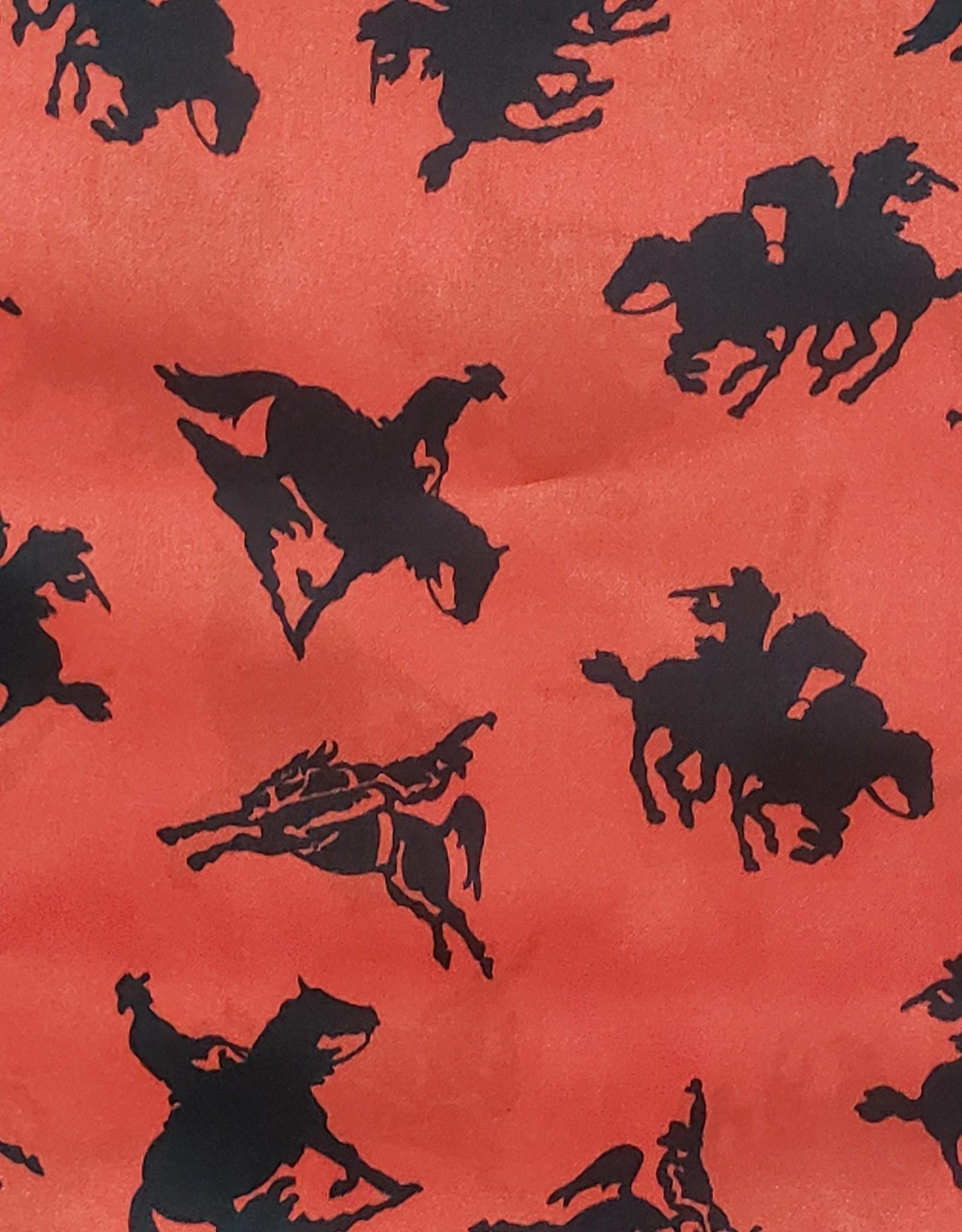 Wild Rag 33x33 Red Rodeo 100% Silk