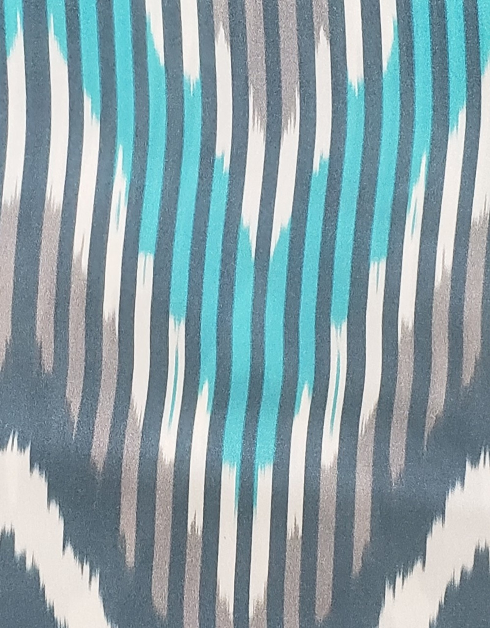 Wild Rag 33x33 100% Silk Teal Chevron Design
