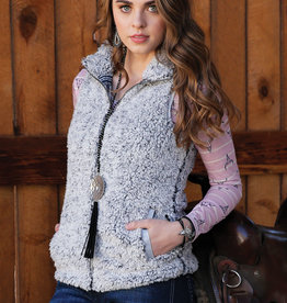 Cruel Girl Womens Grey Sherpa Vest
