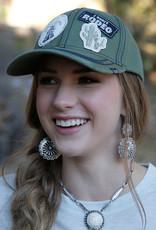 Cruel Girl Olive Rodeo Baseball Cap