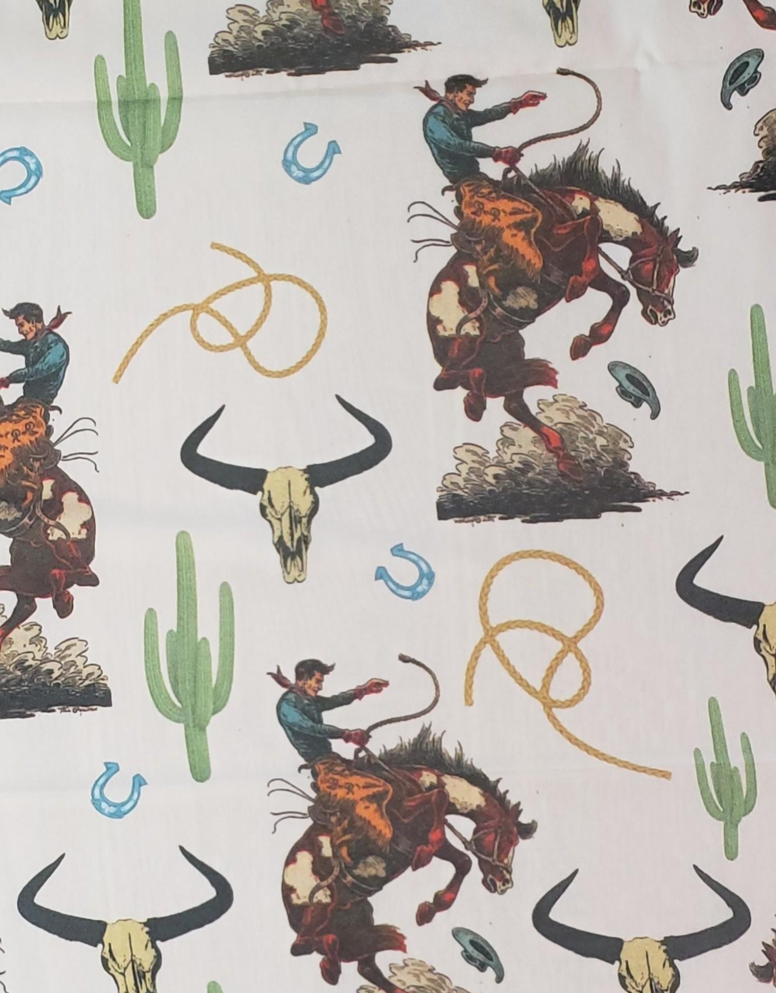 Wild Rag Cowboy Print with Fringe