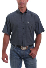 Cinch Mens Cinch Arena Flex Navy Print Short Sleeve Shirt
