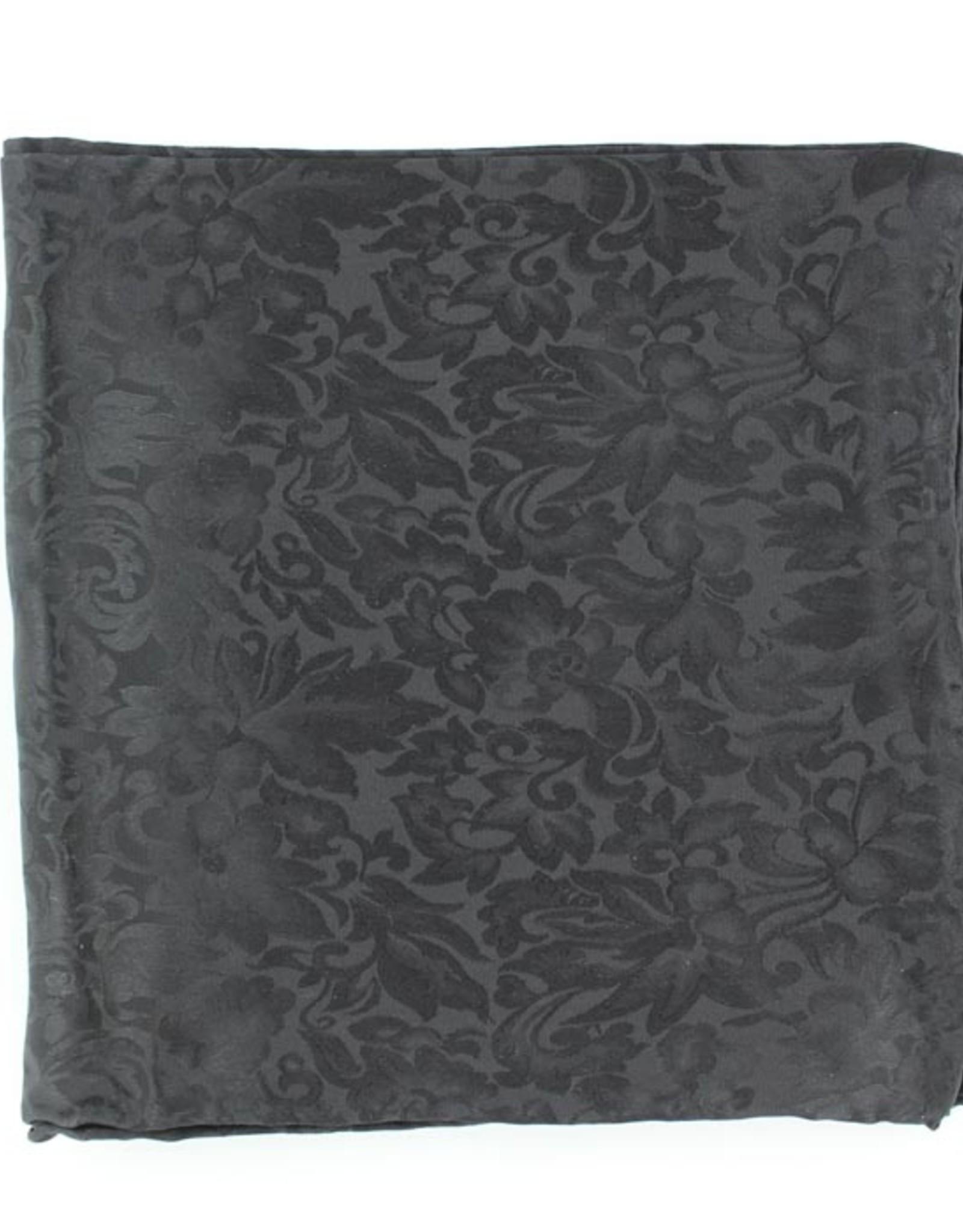 Wild Rag 100% Silk Black Jacquard 33x33