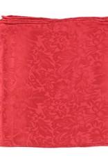 Wild Rag 100% Silk Red Jacquard 33x33