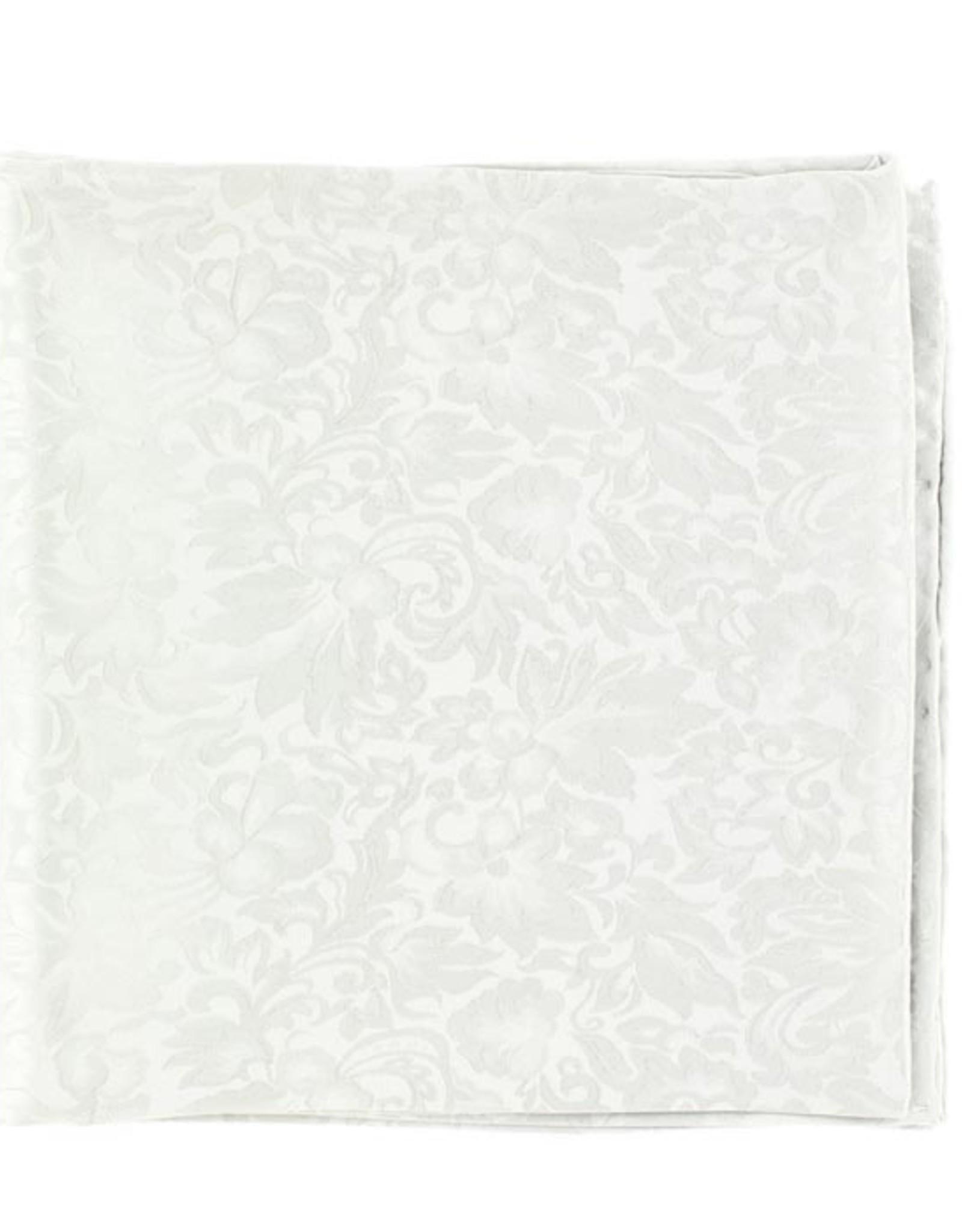 Wild Rag 100% Silk Silver Jacquard 33x33