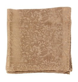 Wild Rag 100% Silk Brown Jacquard 33x33