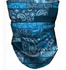 Noble Blue Paisley Neck Gaiter