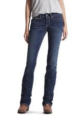 Ariat Ariat Womens REAL Mid Rise Straight Leg Jean Ocean