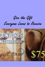 Cowpokes Western Shop Gift Card $75