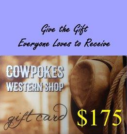 Cowpokes Western Shop Gift Card $175