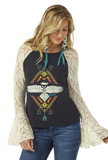 Womens Wrangler Thunderbird Long Sleeve Lace Bell Shirt