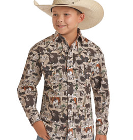 Dale Brisby Long Sleeve Range Cattle  Snap Shirt