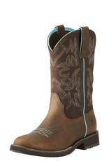 Ariat Womens Ariat Round Toe Distressed Delilah Cowboy Boot