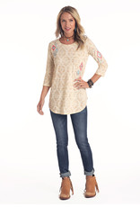 Womens Panhandle Cream and Tan Aztec Shirt