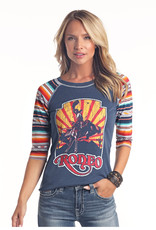 Womens Panhandle Serape Bucking Horse Rodeo Shirt