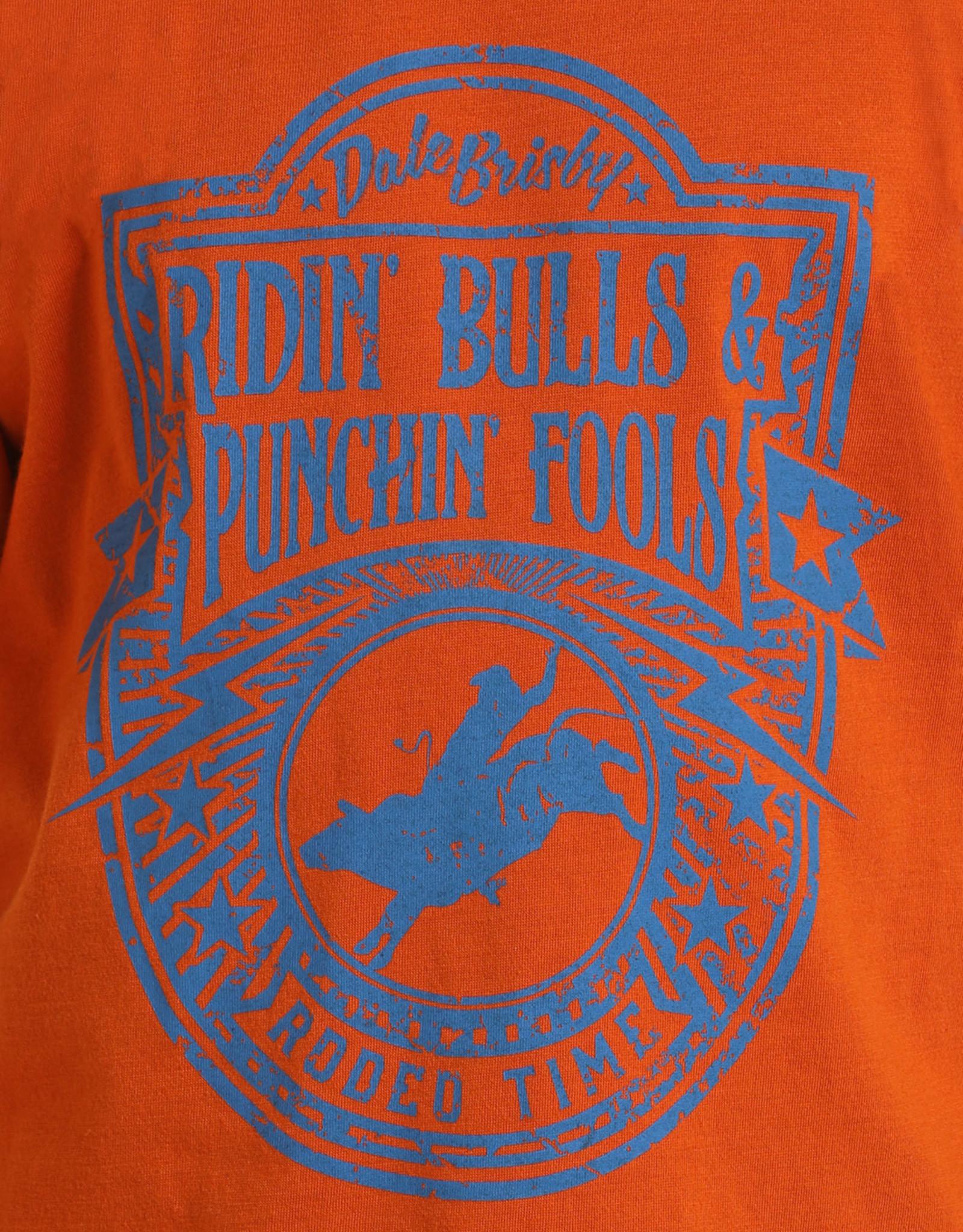 Boys Dale Brisby Ridin Bulls Short Sleeve T Shirt