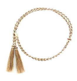 Stampede String w/Pin Brown and Tan Horsehair