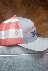 All American Babe Red White Blue Flag Baseball Cap