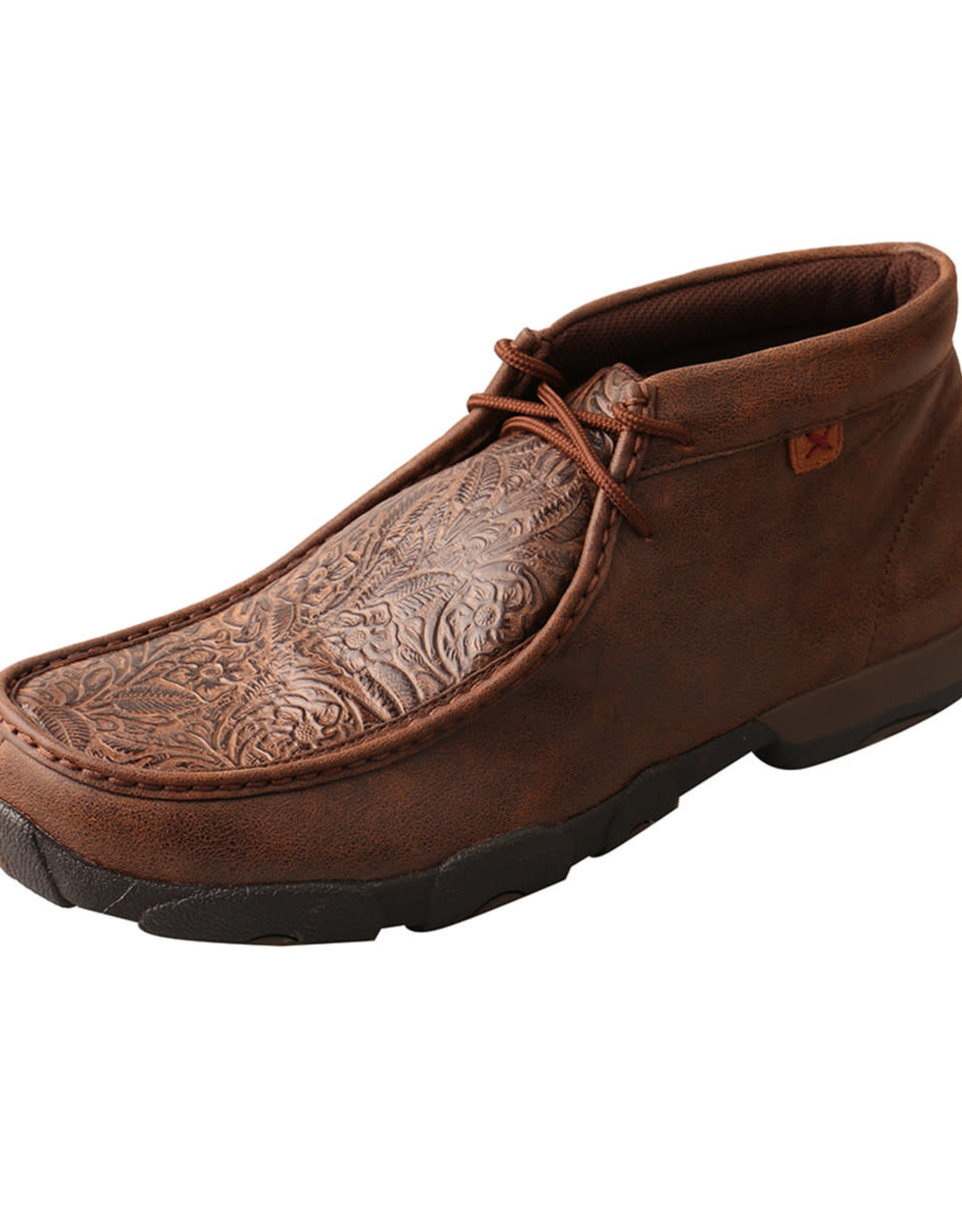 Mens Twisted X Chukka Driving Mocs Brown Tooled