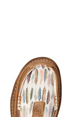 Ariat Ariat Womens Cruiser Brown Bomber Watercolor Feather