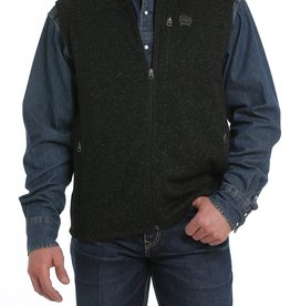 Cinch Cinch Mens Sweater Knit Fleece Vest Heather Black