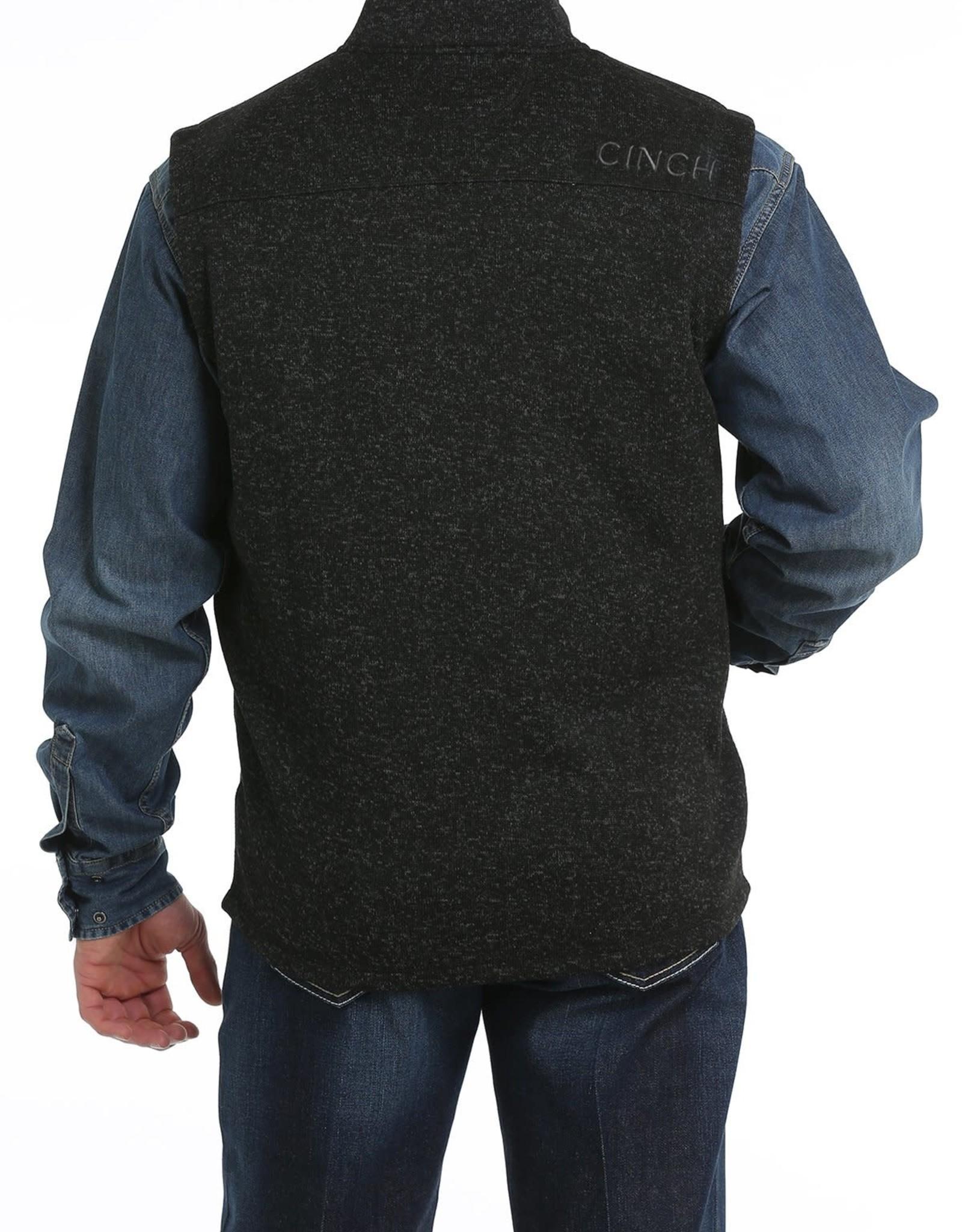 Cinch Cinch Mens Sweater Knit Fleece Vest Heather Black