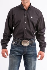 Cinch Mens Cinch Long Sleeve Solid Black Button Down Western Shirt