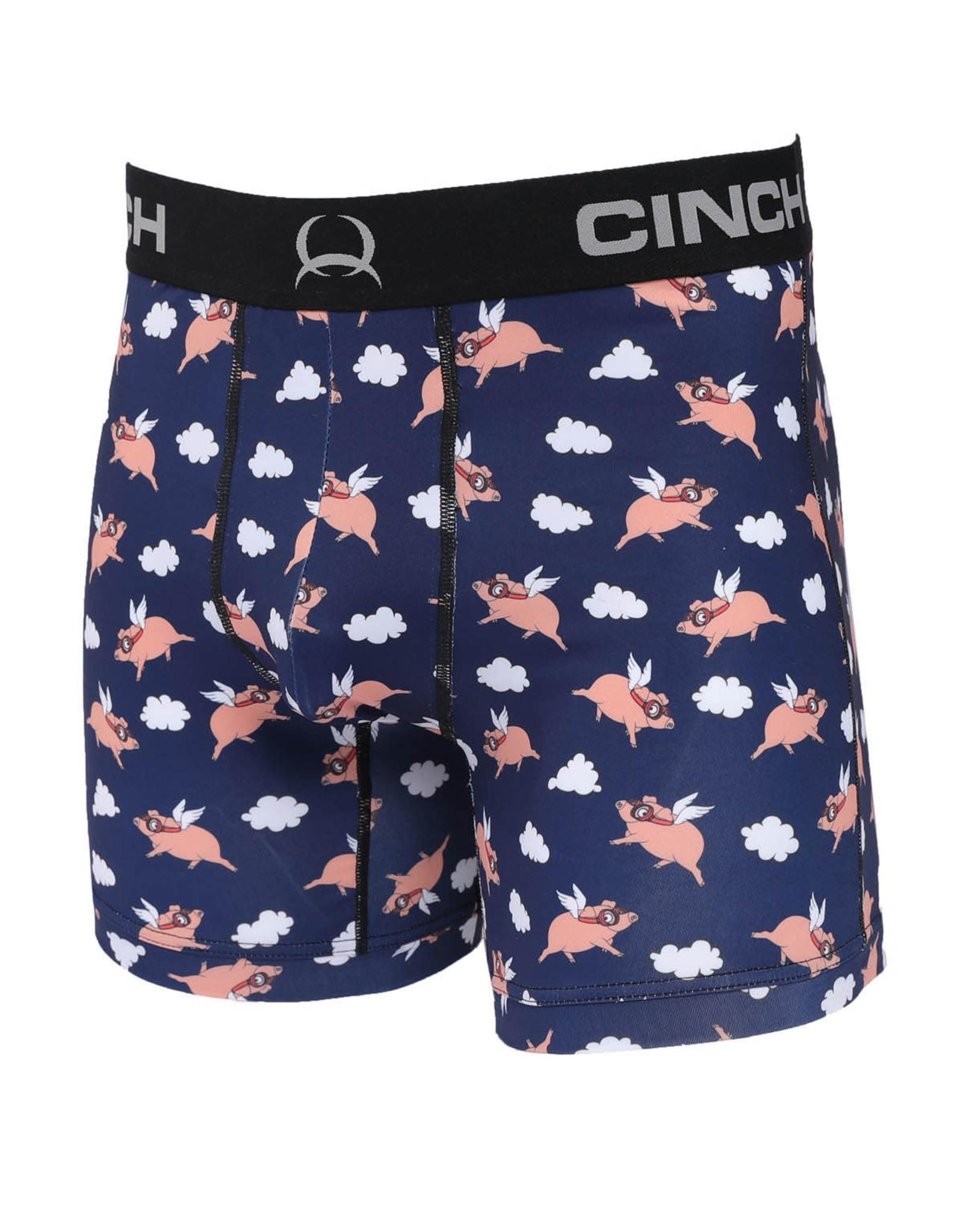"Cinch Mens Cinch Boxer Brief 6"" When Pigs Fly"