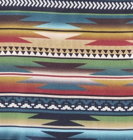 Multi Color Aztec 100% Silk Wild Rag 33x33