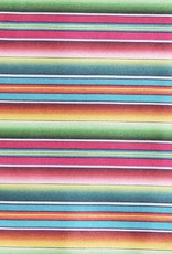 Multi Color Serape Stripe 100% Silk Wild Rag 33x33