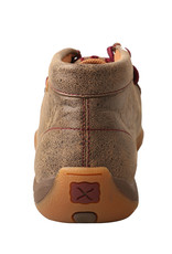 Womens Twisted X Chukka Driving Moc Brown Burgundy Embroidery