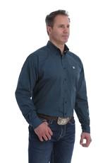 Cinch Mens Cinch Black Royal Daisy Print Long Sleeve Button Western Shirt