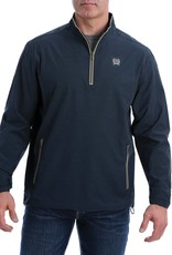 Cinch Mens Cinch Light Weight Quarter Zip Navy Tan Pullover