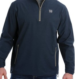 Cinch Mens Cinch Light Weight Quarter Zip Navy Tan Pullover
