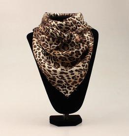 100% Silk Leopard Wild Rag 33x33