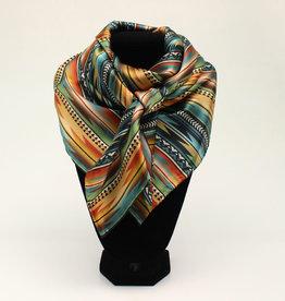 100% Silk Multi Color Aztec Wild Rag 33x33