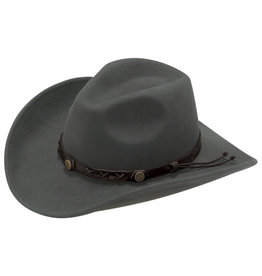 Twister Dakota Graphite Grey Crushable Wool Cowboy Hat