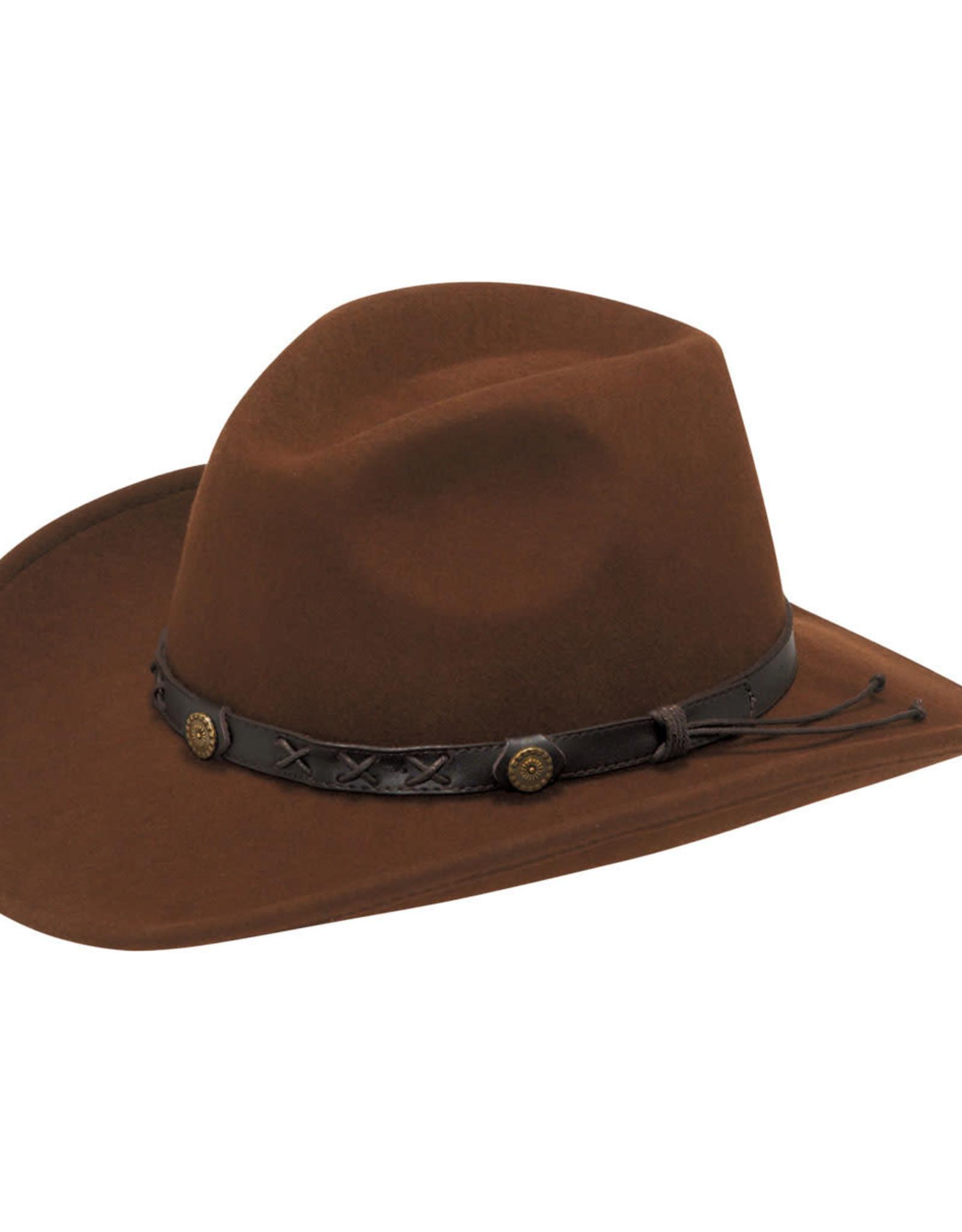 Twister Dakota Chestnut Brown Crushable Wool Cowboy Hat