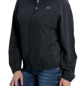 Cinch Womens Cinch Charcoal Full Zip Track Rain Jacket