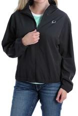 Cinch Womens Cinch Charcoal Full Zip Track Rain Jacket