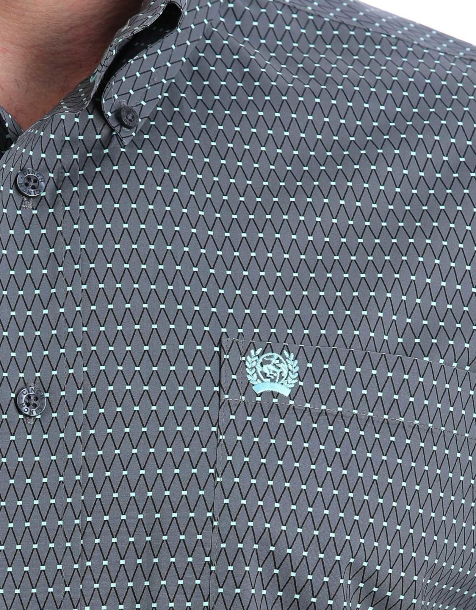 Cinch Boys Cinch Long Sleeve Grey Print Button Western Stretch Shirt