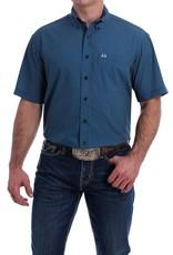 Cinch Mens Cinch Arena Flex Navy Print Button Short Sleeve Shirt