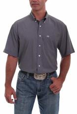 Cinch Mens Cinch Arena Flex Navy Gold Short Sleeve Shirt