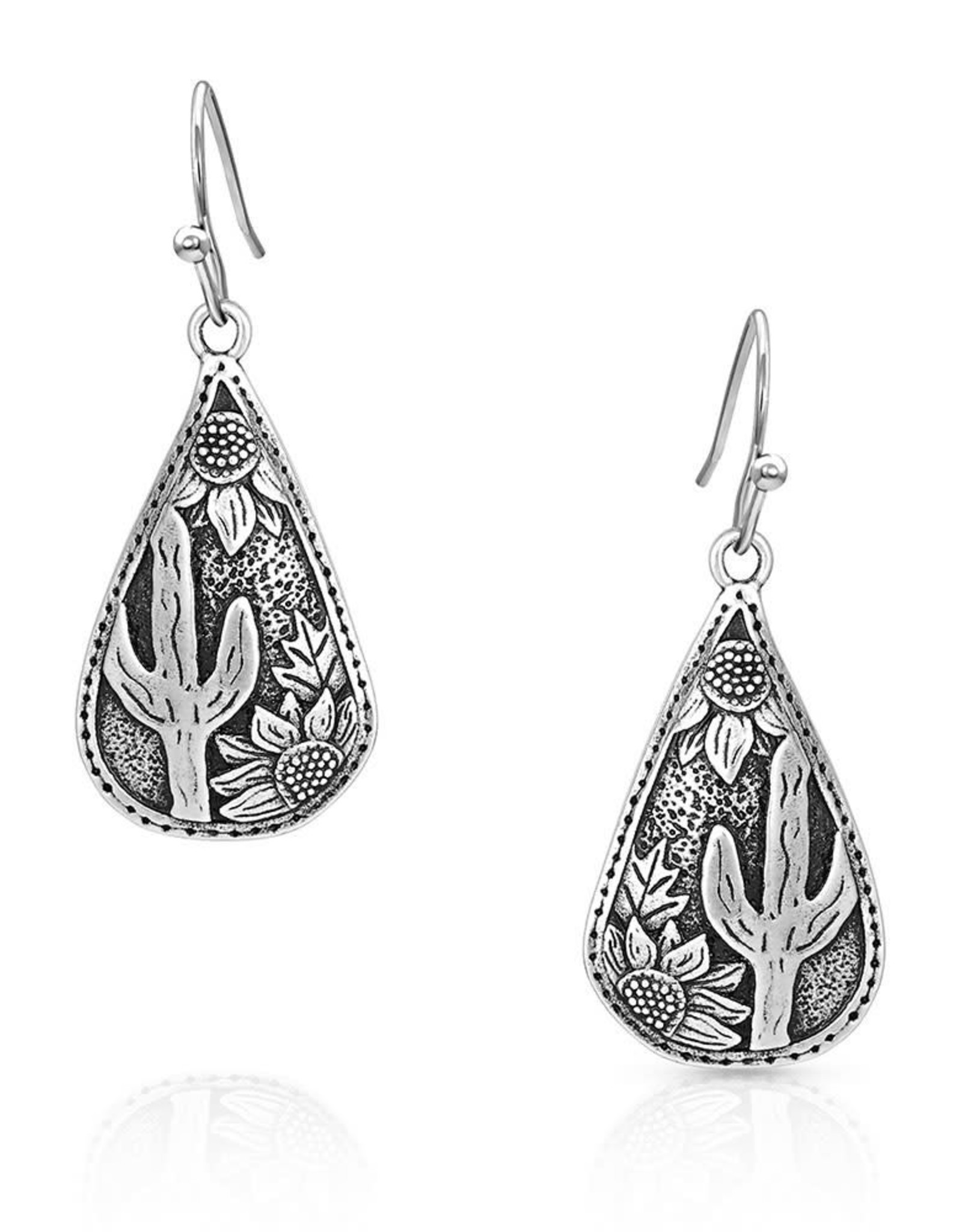 Montana Silversmiths Earrings Cradled Cactus