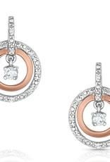 Montana Earrings Circles Rose Gold CZ